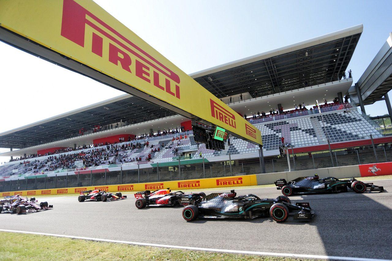 2020年F1第9戦トスカーナGP決勝スタートシーン