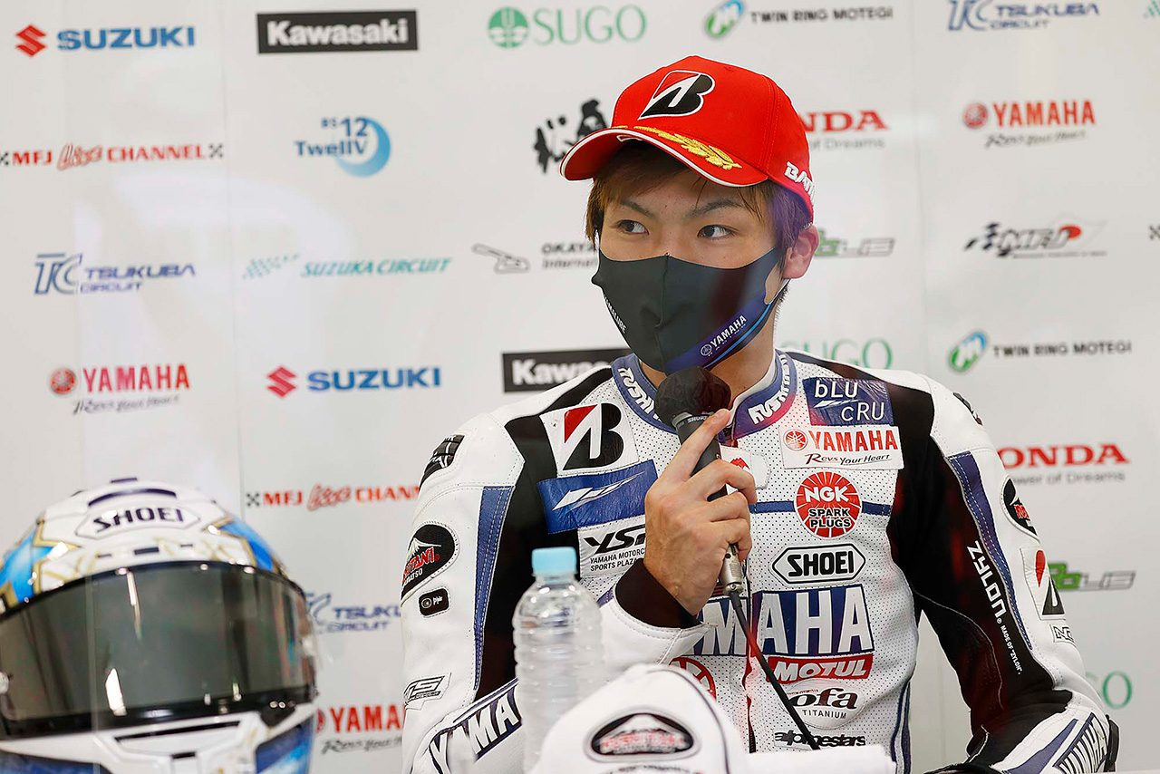 野左根「実際は2位だと思っています。明日は最後まで勝負がしたい」/全日本ロード第3戦オートポリス レース1会見