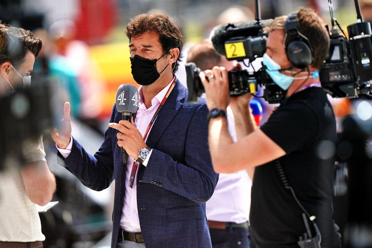 2020年F1イギリスGP 解説を行うマーク・ウエーバー