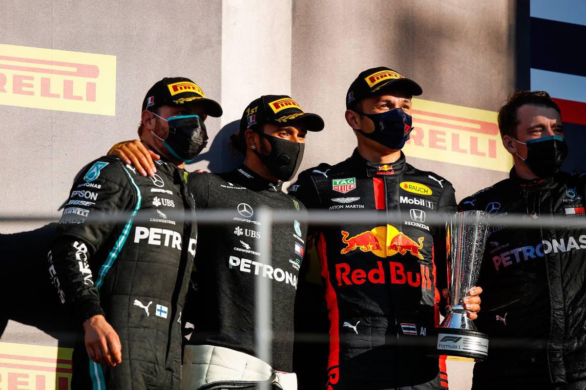 2020年F1第9戦トスカーナGP 表彰式