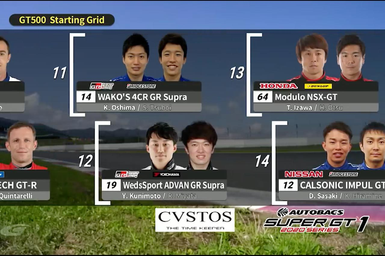 スーパーGT:開幕戦での事件。バンドウ&宮田莉朋の気合の写真が却下されていた