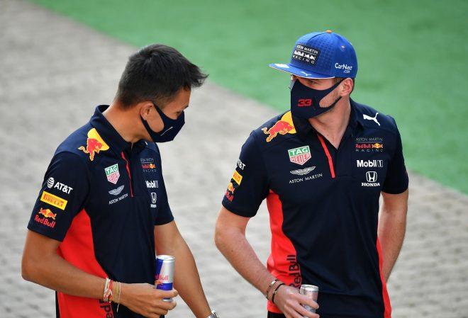 2020年F1第10戦ロシアGP マックス・フェルスタッペンとアレクサンダー・アルボン(レッドブル・ホンダ)