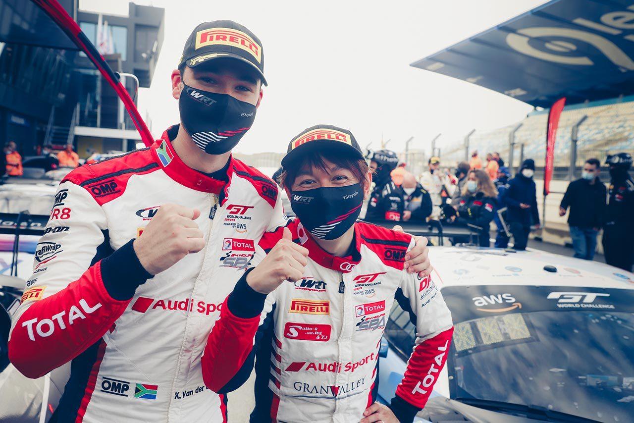 GTWCヨーロッパ:ザントフールトのレース1で富田/ファン・デル・リンデ組が優勝を飾る