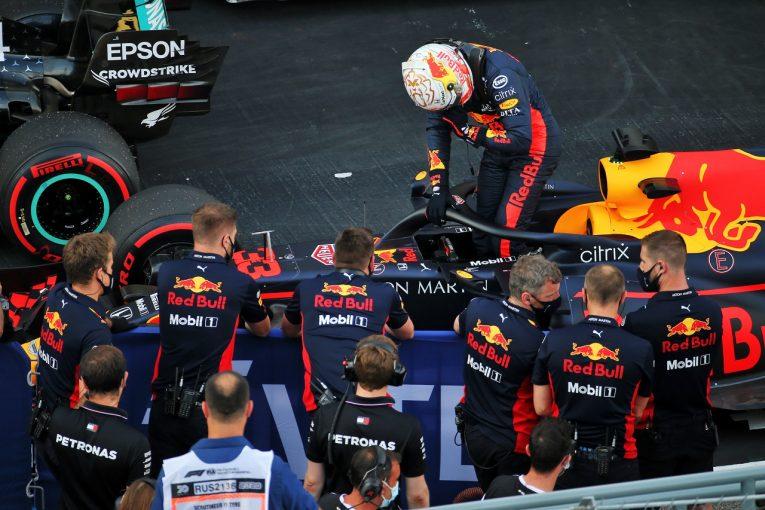 F1 | フェルスタッペンが最前列獲得「キャリアベストの予選。有利なタイヤで好結果目指す」レッドブル・ホンダ【F1第10戦】