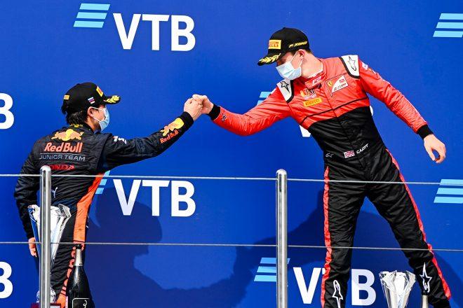 2020年FIA-F2第10戦ロシア レース1 表彰台