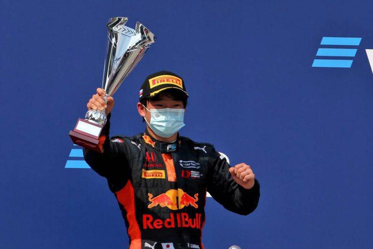 海外レース他 | 最終周に2位表彰台を獲得した角田裕毅「計画したとおりのオーバーテイクができたのでよかった」/FIA-F2第10戦