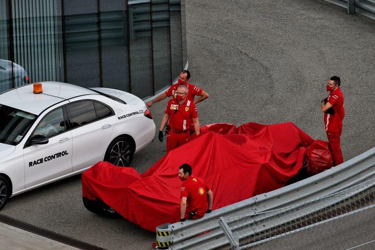 F1 | クラッシュしたベッテル「プッシュしすぎてコントロールを失った」フェラーリ【F1第10戦予選】