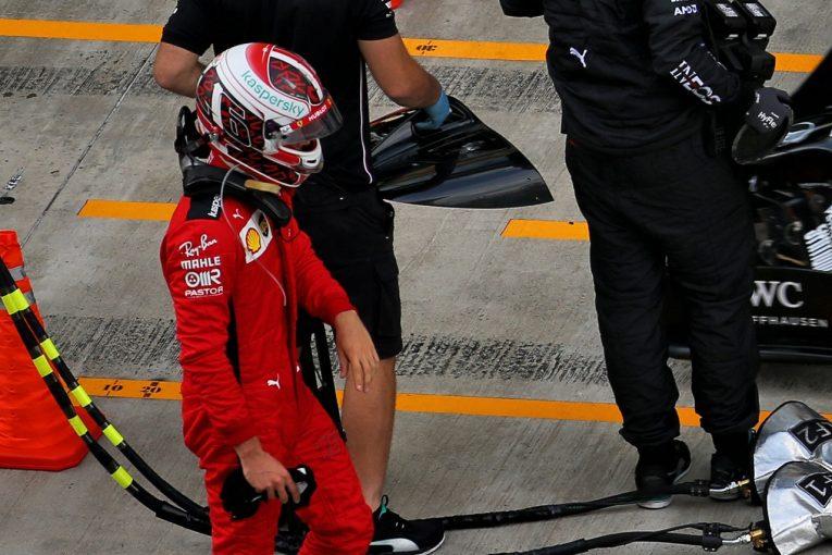 F1 | フェラーリの判断ミスが影響か。ルクレール、Q2敗退に「深く失望」【F1第10戦予選】