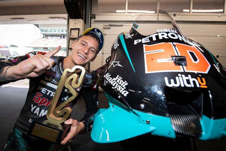 MotoGP | クアルタラロ、第3戦以来の勝利に歓喜「厳しい時期を経て再び優勝できた」/MotoGP第9戦決勝トップ3コメント