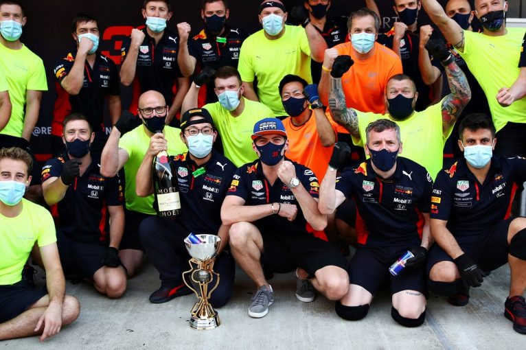 F1   フェルスタッペン2位「相性の悪いソチで初の表彰台。最大の結果を出せて満足」レッドブル・ホンダ【F1第10戦】