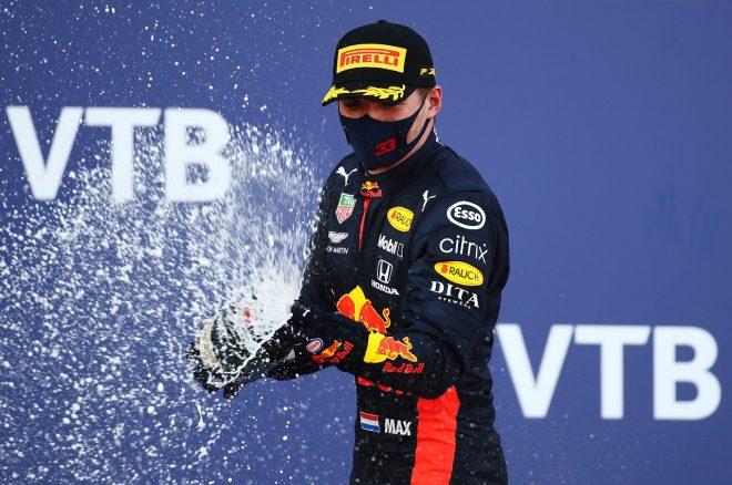 2020年F1第10戦ロシアGP マックス・フェルスタッペン(レッドブル・ホンダ)が2位表彰台を獲得