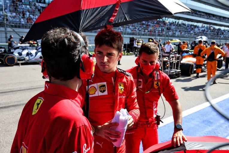 F1   ルクレール6位「間違いなく一歩前進した。次のアップデートが楽しみ」フェラーリ【F1第10戦決勝】