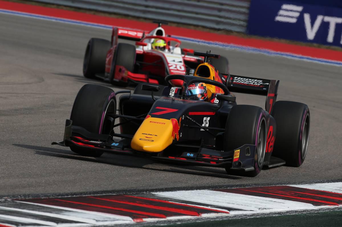 2020年FIA-F2第10戦ロシア レース1 角田裕毅(カーリン)