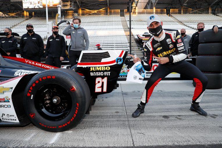 海外レース他 | インディカー第12戦ハーベストGP予選:新人ヴィーケイが初ポール獲得。琢磨は手痛いコースアウト