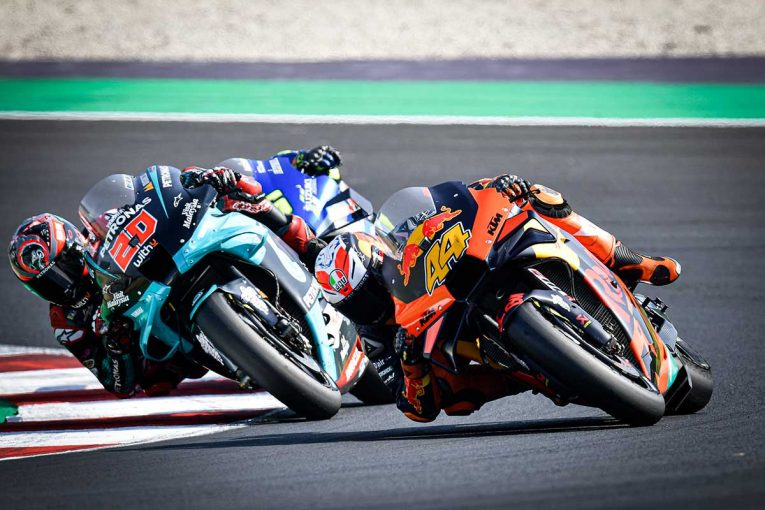 MotoGP | 転倒続出の2020年シーズン。変化する路面の対応が難しい17インチタイヤ/ノブ青木の知って得するMotoGP