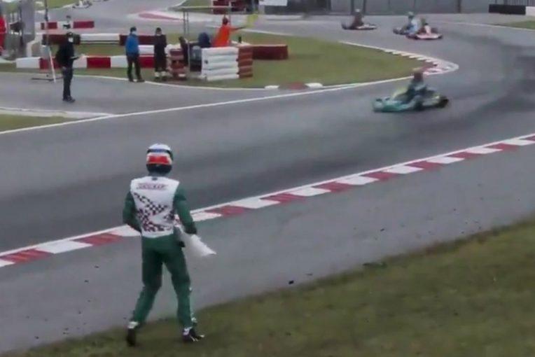海外レース他 | ライバルにバンパーを投げつけたイタリア人ドライバー「今後一生モータースポーツに参戦しない」と謝罪