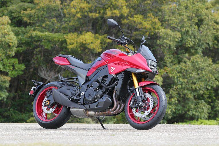 MotoGP | スズキ、『KATANA 特別色』レッドとマットブラックを10月10・11日に阪急大阪梅田駅で展示