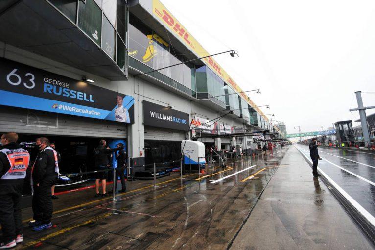 F1 | F1アイフェルGP FP1:悪天候の影響によりメディカルヘリが飛べず、ドライバーも走行不可能に