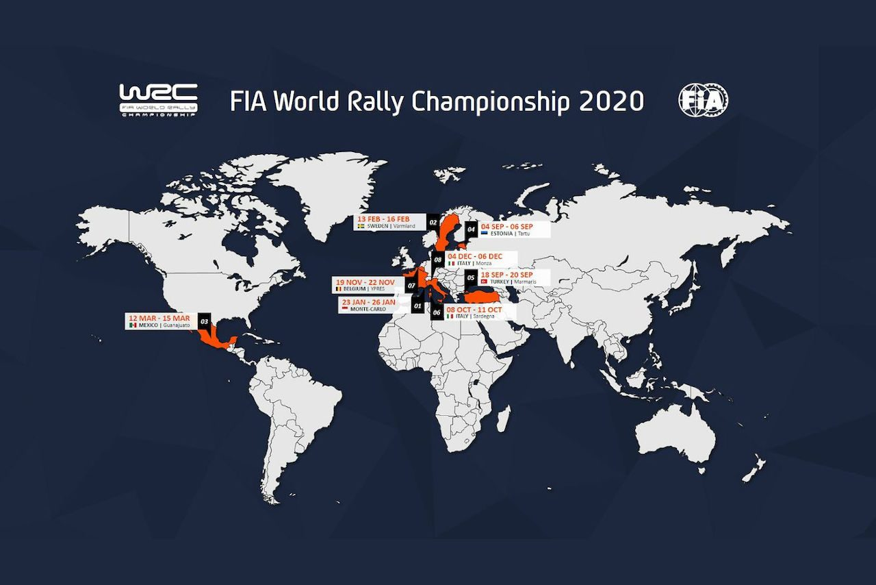 WRC:ラリー・モンツァが2020年カレンダー入り。最終戦として12月4~6日開催へ