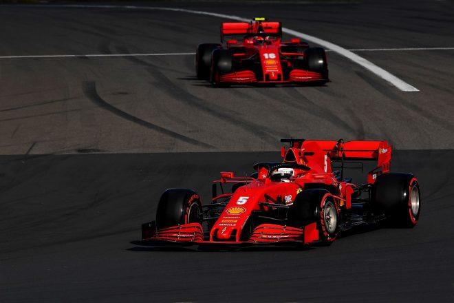 2020年F1第11戦アイフェルGP セバスチャン・ベッテルとシャルル・ルクレール(フェラーリ)