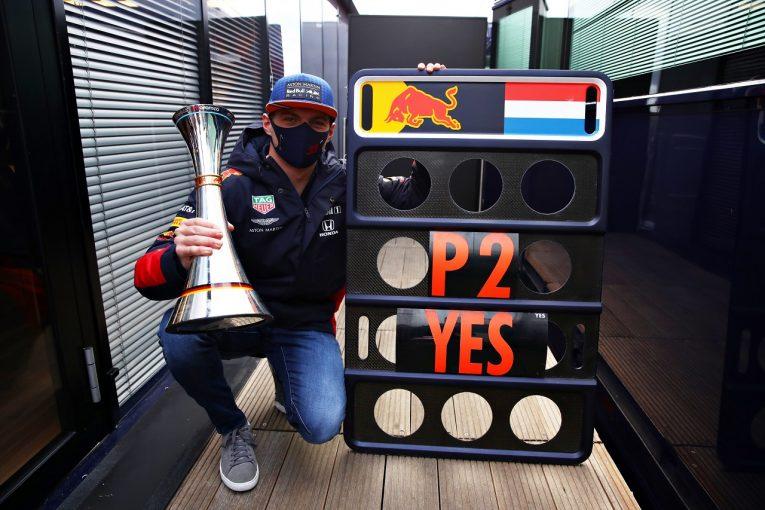 F1 | フェルスタッペン2位「まさか最速ラップも記録できるなんて!マシンの向上を感じる」レッドブル・ホンダ【F1第11戦】