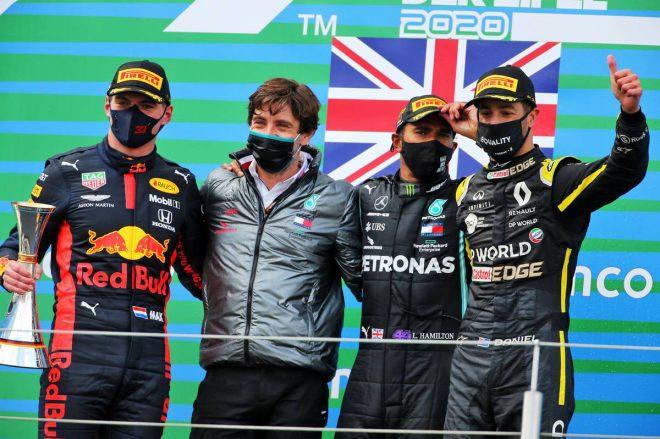 2020年F1第11戦アイフェルGP 表彰式