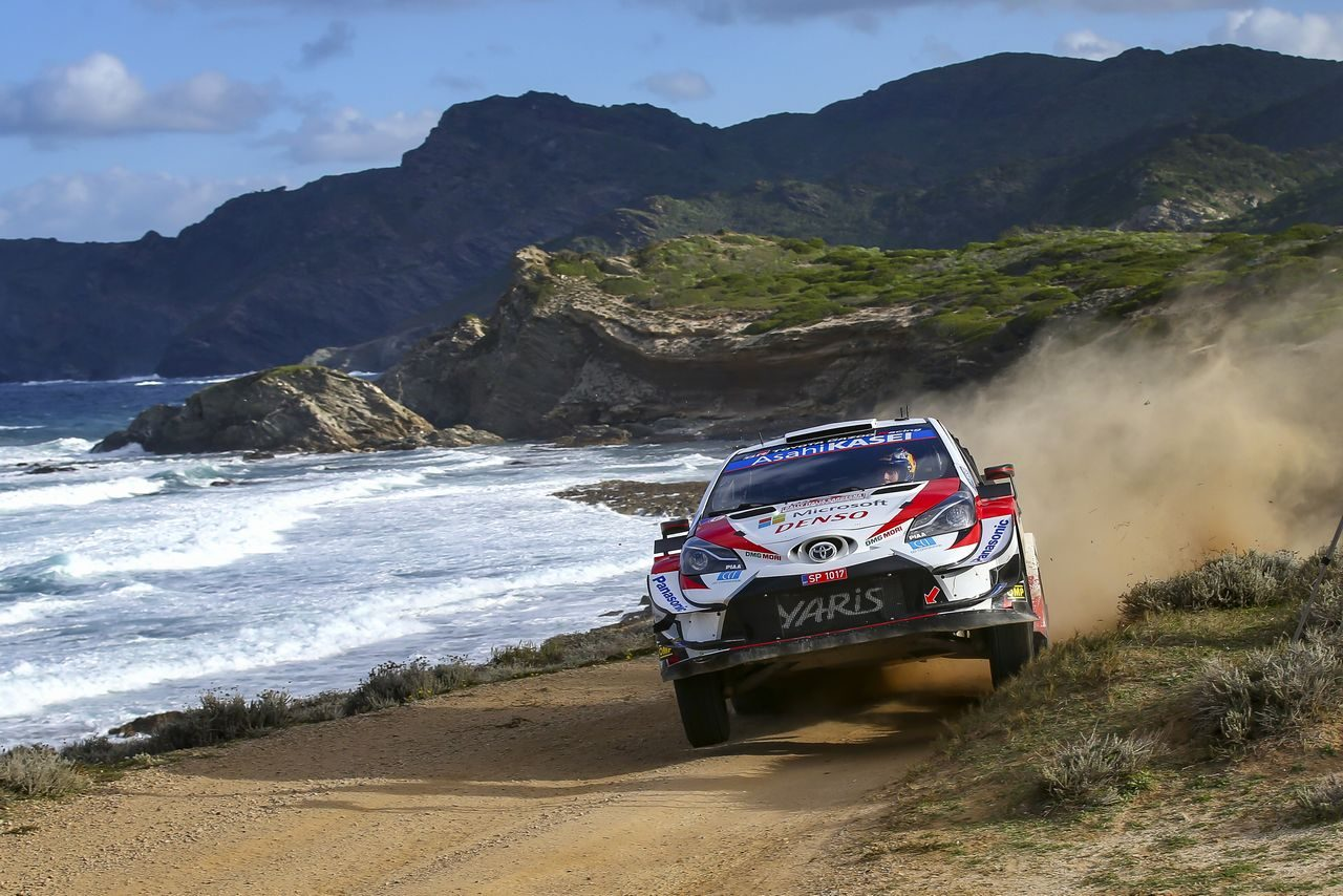 WRCイタリア:トヨタ、オジエが総合3位フィニッシュ。4位完走のエバンスと選手権1-2守る