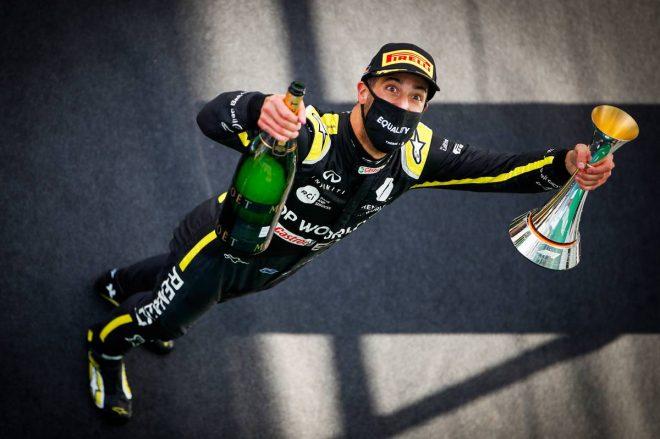 2020年F1第11戦アイフェルGP ダニエル・リカルド(ルノー)が3位を獲得