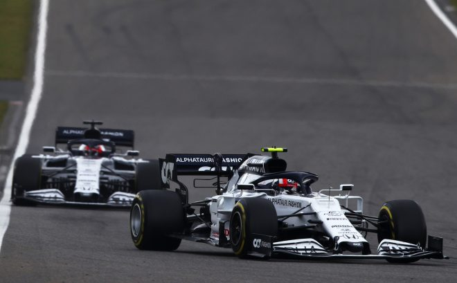 2020年F1第11戦アイフェルGP ピエール・ガスリーとダニール・クビアト(アルファタウリ・ホンダ)