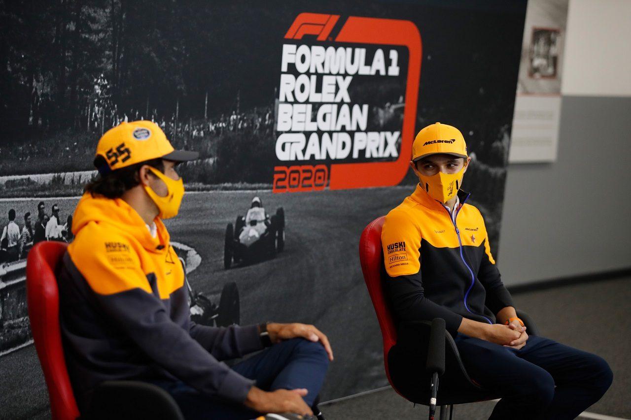 2020年F1第11戦アイフェルGP ランド・ノリスとカルロス・サインツJr.(マクラーレン)