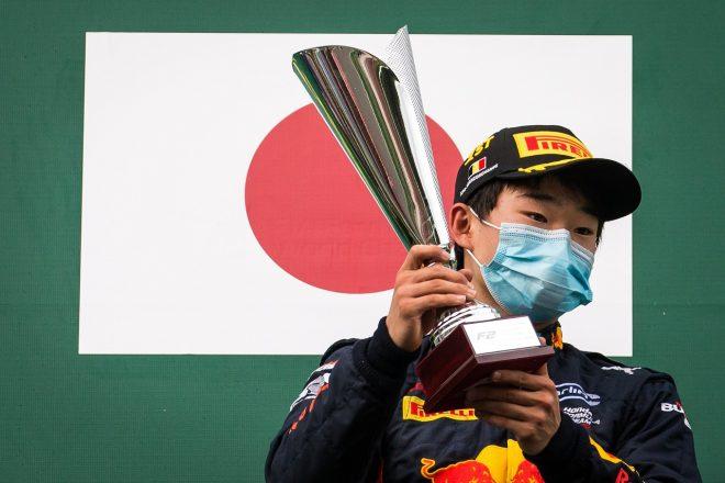 2020年FIA-F2ベルギー戦で優勝した角田裕毅