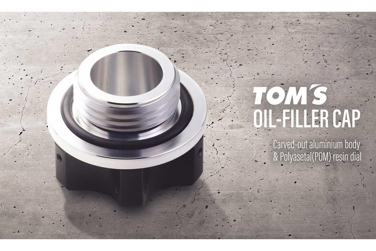 トムス、アルミ削り出しボディを採用したネジ式オイルフィラーキャップを新発売