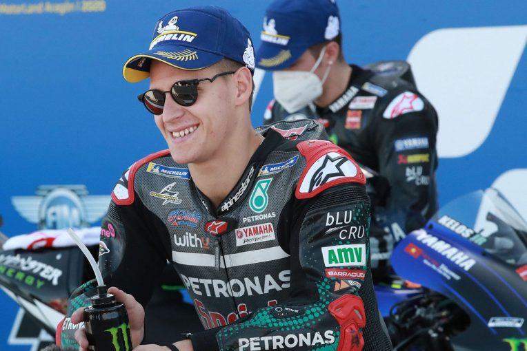 MotoGP | FP3で転倒後ポール獲得のクアルタラロ「予選ではあまり期待していなかった」/MotoGP第11戦予選トップ3コメント