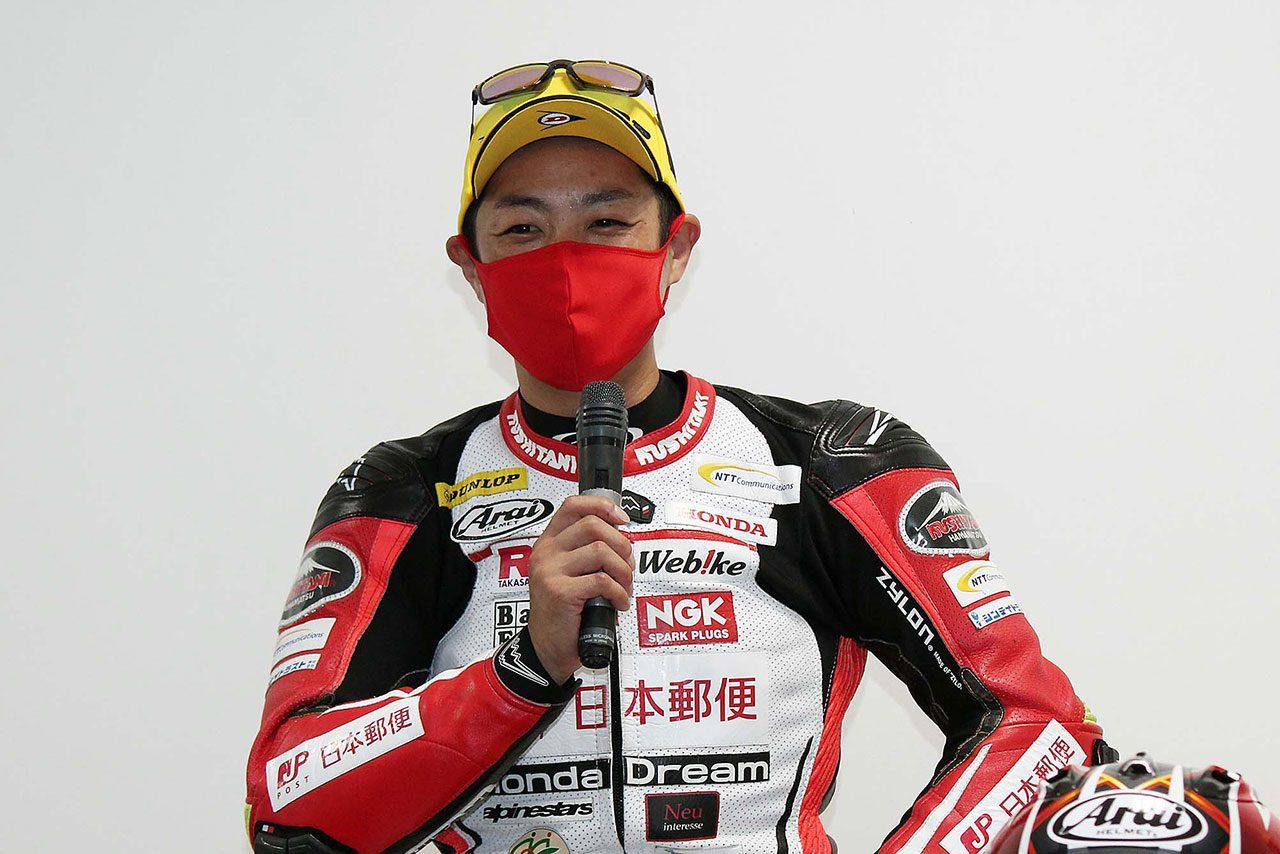 名越哲平「対策はなかったが90度コーナーの突っ込みには自信があった」/全日本ロード第4戦もてぎ ST1000決勝会見