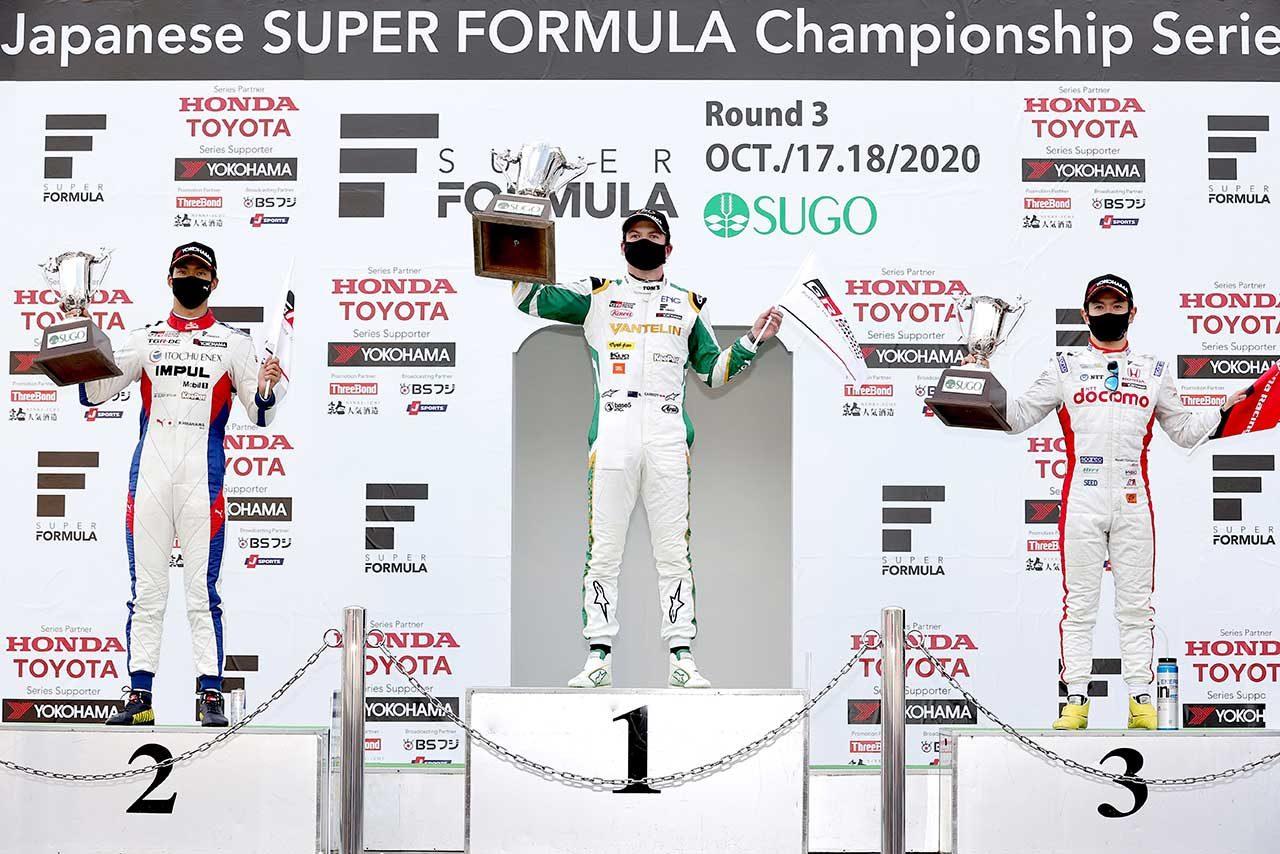 2020年全日本スーパーフォーミュラ選手権第3戦SUGO 表彰式
