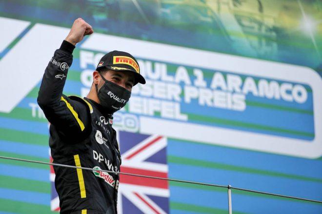 2020年F1第11戦アイフェルGP 3位表彰台を獲得したダニエル・リカルド(ルノー)