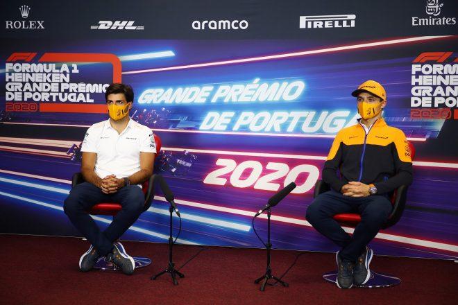 2020年F1第12戦ポルトガルGP木曜会見 ランド・ノリスとカルロス・サインツJr.(マクラーレン)