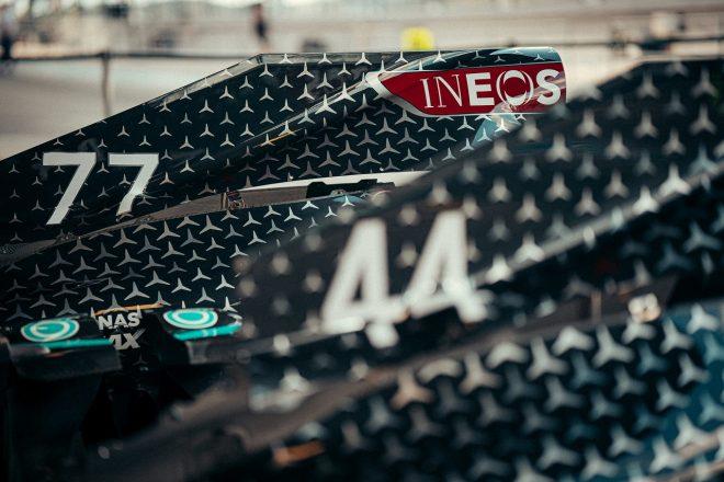 2020年F1第12戦ポルトガルGP バルテリ・ボッタスとルイス・ハミルトンのメルセデスF1 W11