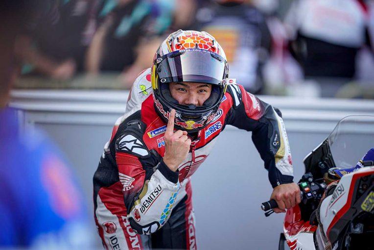 MotoGP   最高峰クラスで初ポール獲得の中上「すばらしい気持ち。ポールを獲得するとは思わなかった」/MotoGP第12戦予選トップ3コメント