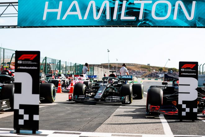 2020年F1第12戦ポルトガルGP ルイス・ハミルトン(メルセデス)がポールポジションを獲得