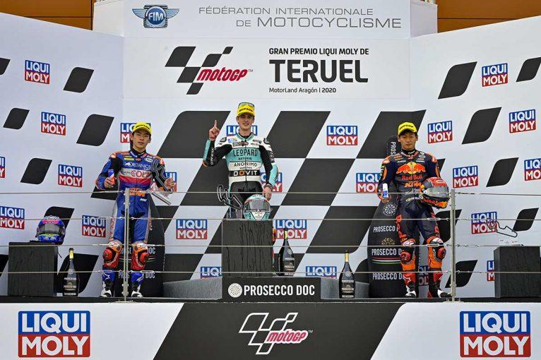 MotoGP | 佐々木歩夢が初の2位表彰台、3位は鳥羽海渡【順位結果】2020MotoGP第12戦テルエルGP Moto3決勝