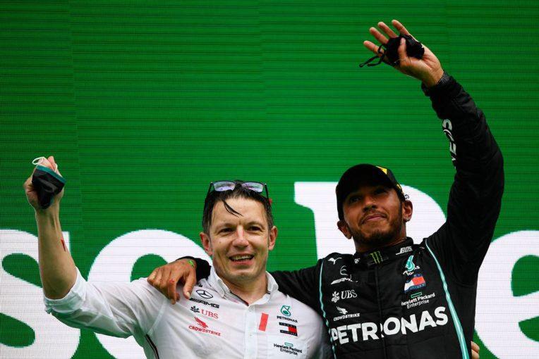 F1 | ピレリ、最多勝記録を樹立したハミルトンを祝福「歴史が刻まれた瞬間の目撃者になれたことを光栄に思う」