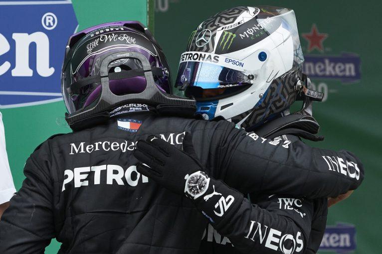 F1   ボッタス2位「なぜ速さを失ったのか…。戦略を変えてもルイスに勝てなかっただろう」メルセデス【F1第12戦決勝】