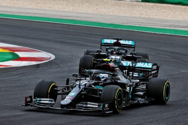 2020年F1第12戦ポルトガルGP バルテリ・ボッタスとルイス・ハミルトン(メルセデス)