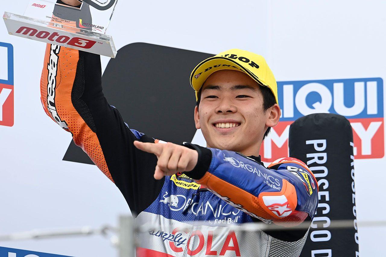 Moto3:初表彰台を獲得した佐々木歩夢「最終ラップに集中していた」/MotoGP第12戦テルエルGP