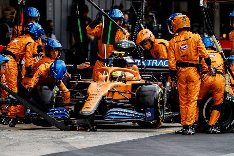 F1 | ノリス「ストロールとの件は、運が悪かったとしか言いようがない」:マクラーレン F1第12戦決勝