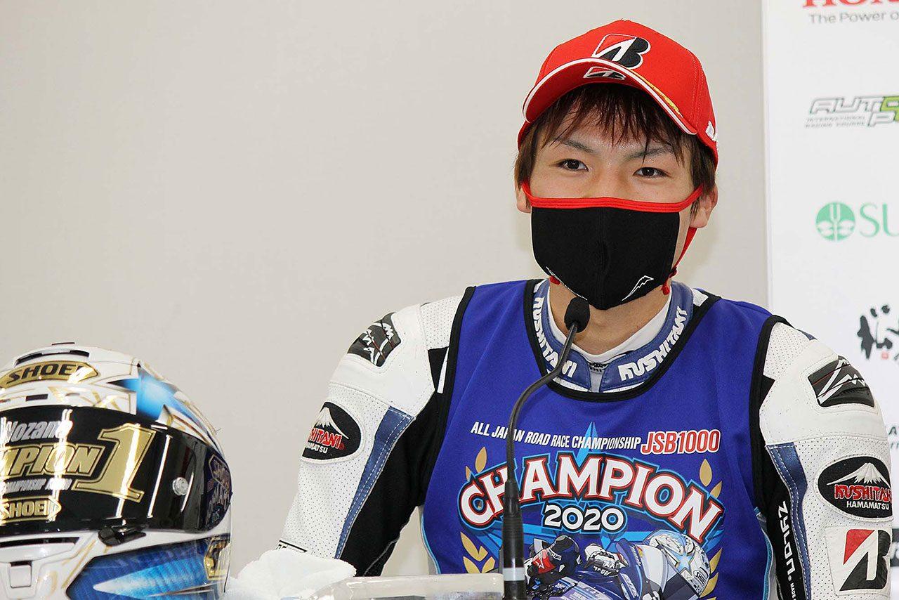 中須賀「抜きどころがなく、自分も余裕はなかった」/全日本ロード最終戦鈴鹿 レース1会見