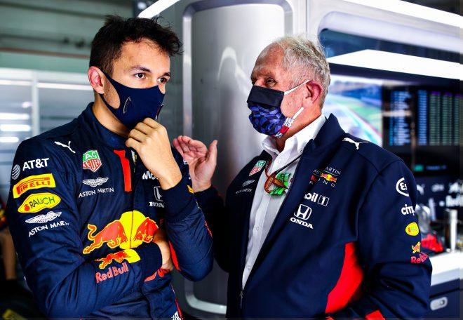 2020年F1第13戦エミリア・ロマーニャGP アレクサンダー・アルボン(レッドブル・ホンダ)とモータースポーツコンサルタントのヘルムート・マルコ