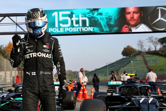 2020年F1第13戦エミリア・ロマーニャGP バルテリ・ボッタス(メルセデス)がポールポジションを獲得