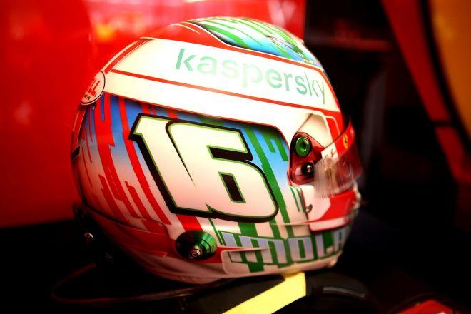 2020年F1第13戦エミリア・ロマーニャGP シャルル・ルクレール(フェラーリ)のスペシャルヘルメット